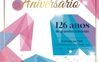 Celebre connosco virtualmente os 126 da nossa Associação no domingo, dia 12, pelas 17h